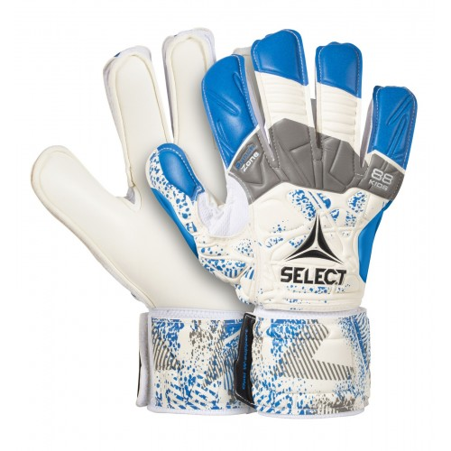 Brankářské rukavice Select GK gloves 88 Kids Flat Cut bílo modrá