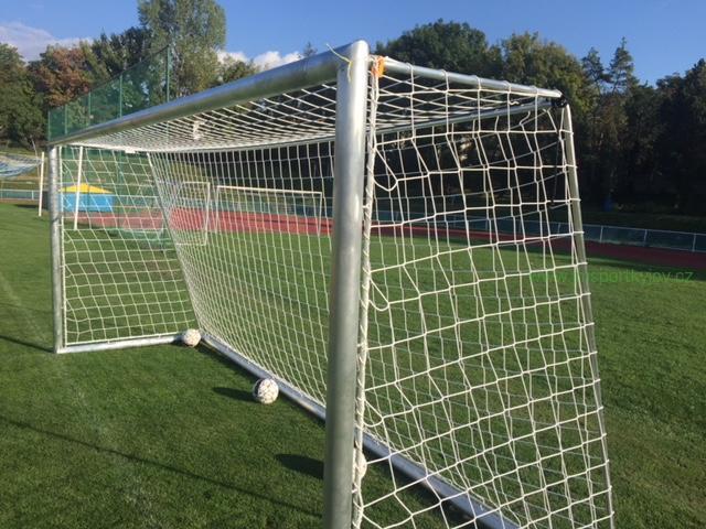Hliníková fotbalová branka pro přípravku 5 x 2m se sítí